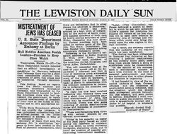 Holocaust - The Lewiston Daily Sun - Mistreatment of Jews has ceased - Cordell Hull - Stephen Wise - March 33.jpg
