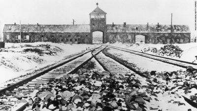 Snow covered personal effects at Auschwitz.jpg