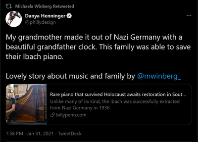 Danya Henninger - grandfather clock survived Holocaust.png